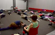 MORE THAN 30 PARTICIPANTS AT THE HORMON  YOGA AT TARGI KIELCE