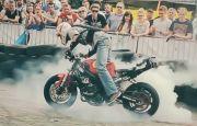 Popisy motocyklowe w Targach Kielce