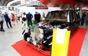 HEARSES IN DIFFERENT COLOURS AND ELECTRIC DRIVE LIMO!  2017'S KIELCE NECROEXPO ABOUNDS WITH FUNERAL-INDUSTRY ROLLING-STOCK NOVELTIES