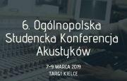 VI Ogólnopolska Studencka Konferencja Akustyków OSKA podczas DSE 2019