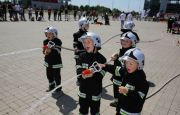 LITTLE FIRE-FIGHTERS FROM STĄPORKÓW AND  DOGS IN LIVE-SHOWS IN KIELCE FAIRS