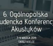 6TH NATIONAL STUDENTS CONFERENCE  FOR SOUND-ENGINEERS  OSKA HELD WITHIN THE SCOPE OF 2019'S DSE