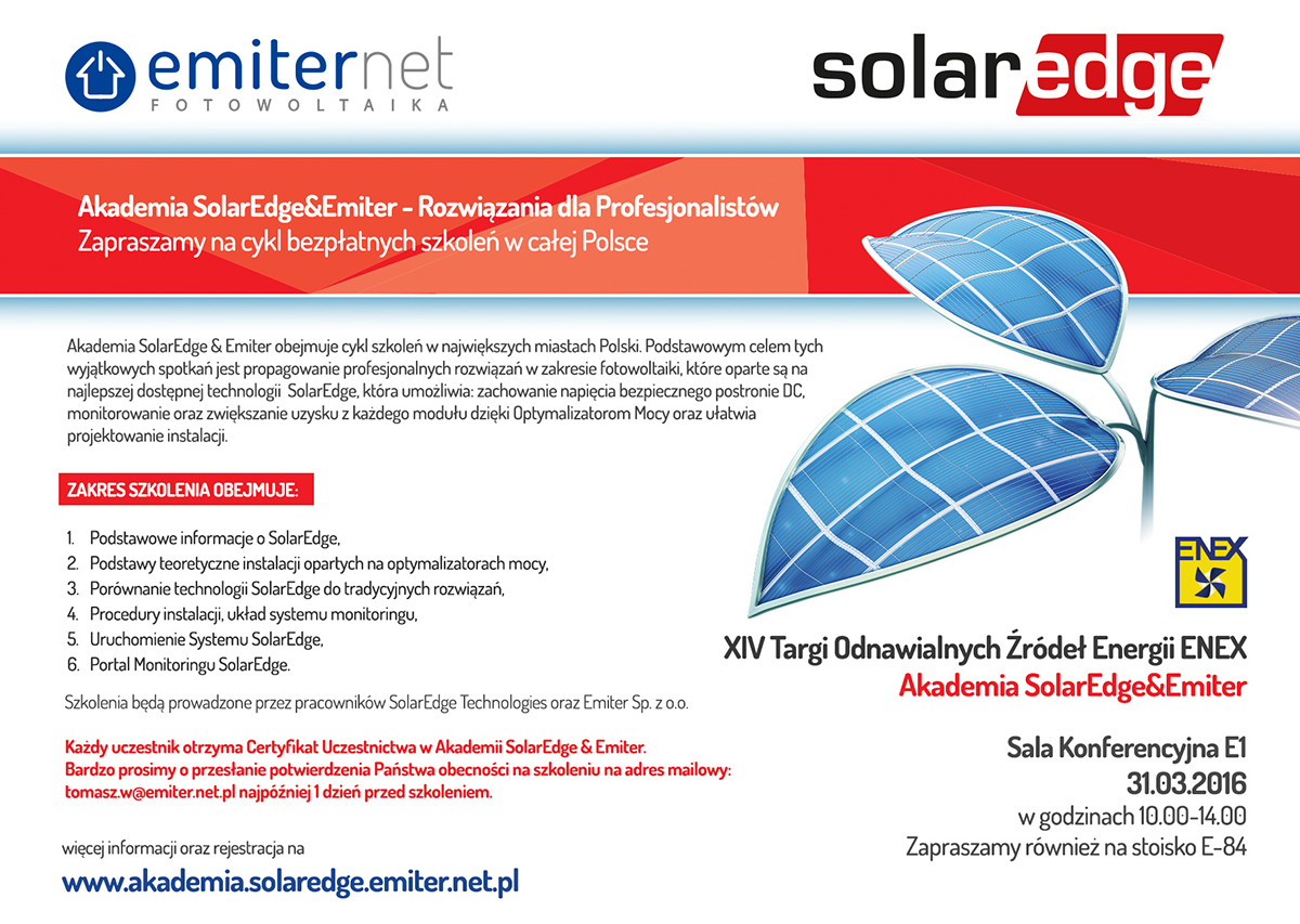 Akademia SolarEdge&Emiter