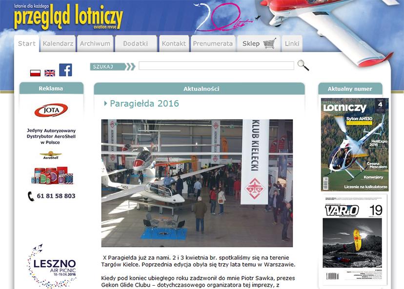 przegląd lotniczy - relacja z paragiełdy 2016
