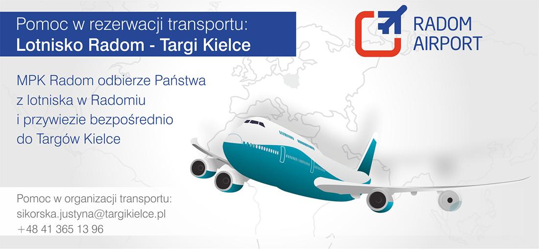 Transport z lotniska Radom