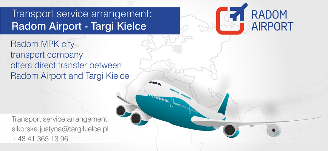 Transport service arrangement from Radom Airport to Targi Kielce
