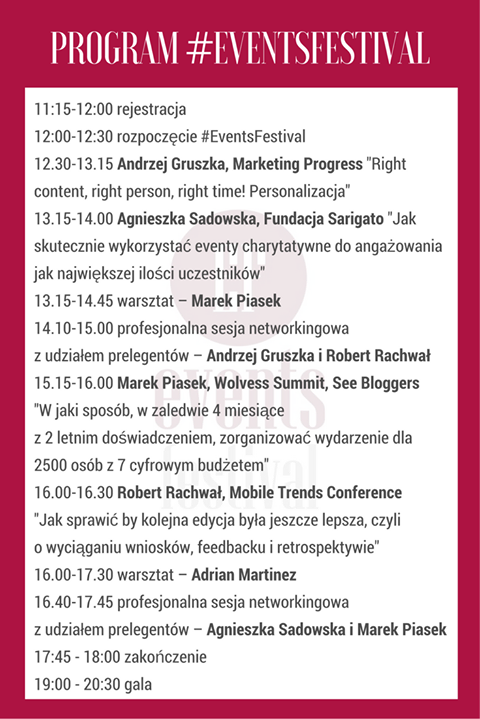 events festival 2017 - program