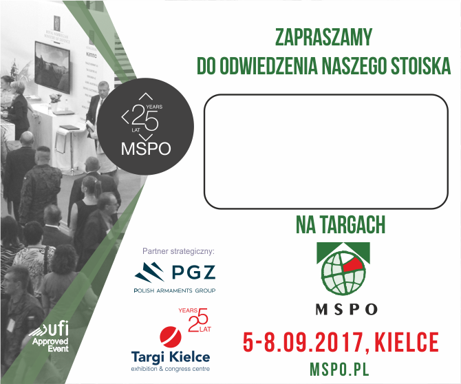 zapraszamy do odwiedzenia stoiska na targach MSPO 2017