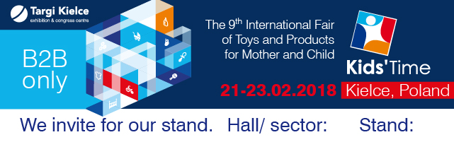 Kids Time 2018 - we invite you to our stand 640x200