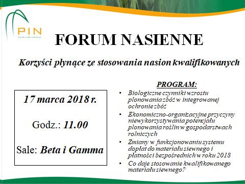 agrotech 2018 - forum nasienne - plakat