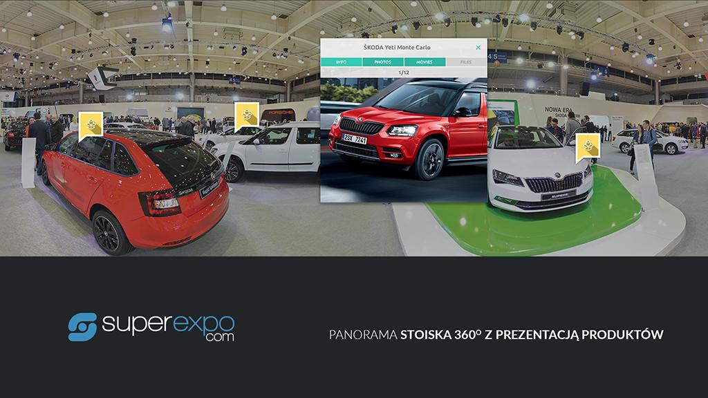 usługi marketingowe - superexpo - Panorama stoiska 360 z prezentacją produktów