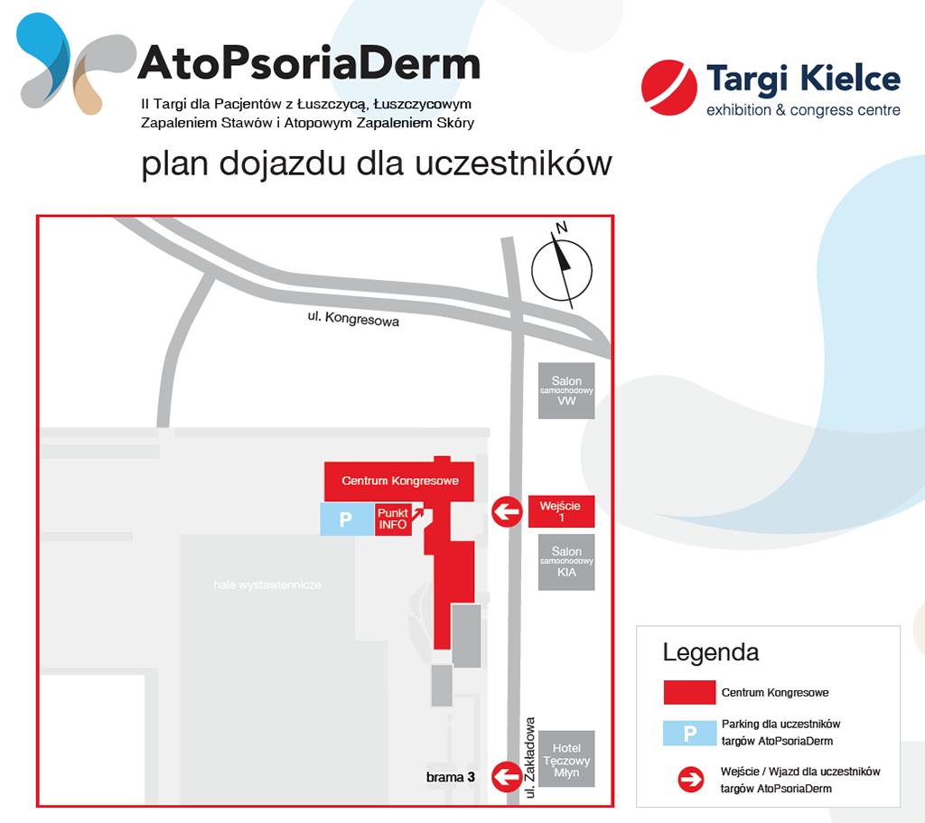 atopsoriaderm 2018 - plan dojazdu dla uczestników