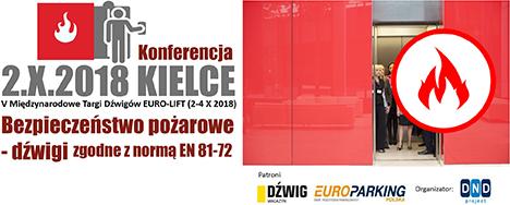eurolift 2018 - konferencja bezpieczeństwo pożarowe dźwigów