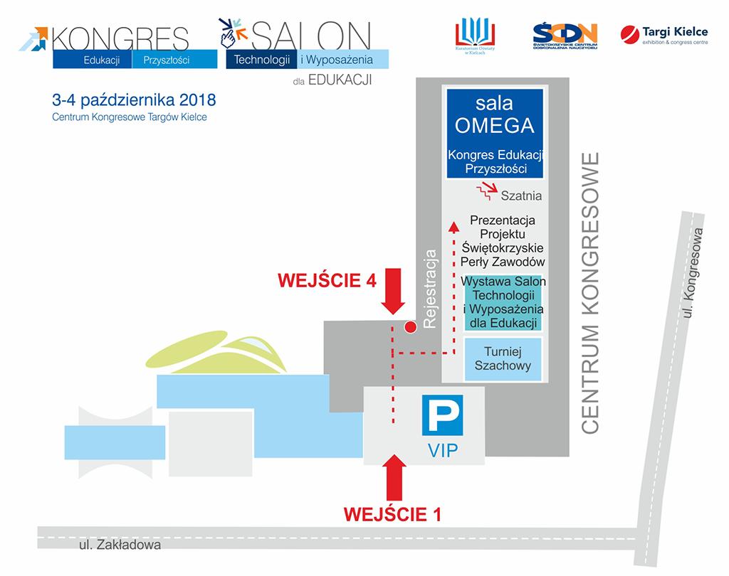 salon i kongres edukacji 2018 - mapa obiektu