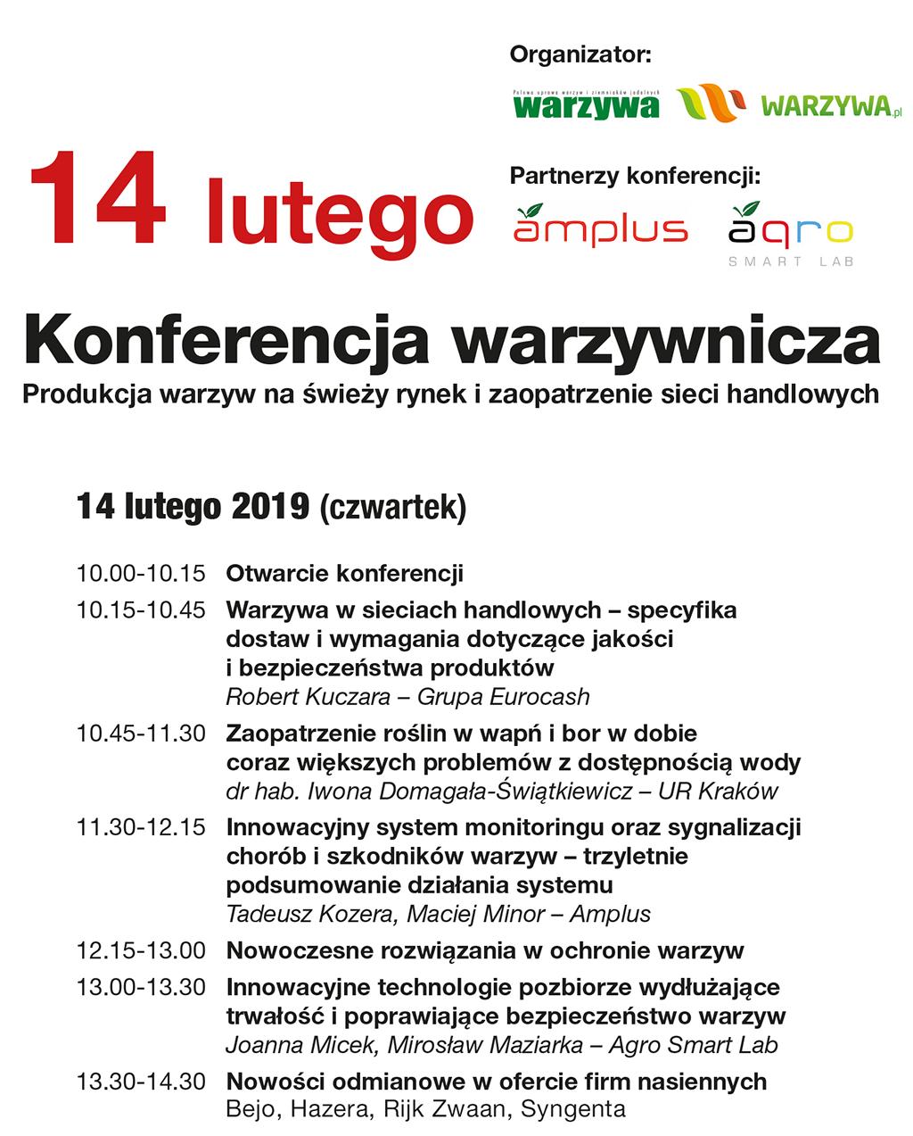 horti-tech 2019 - Konferencja warzywnicza - program