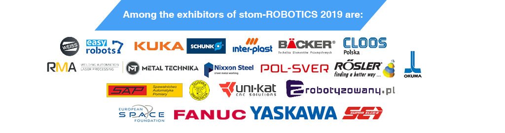 stom-robotics 2019 - among the exhibitors of 2019 are