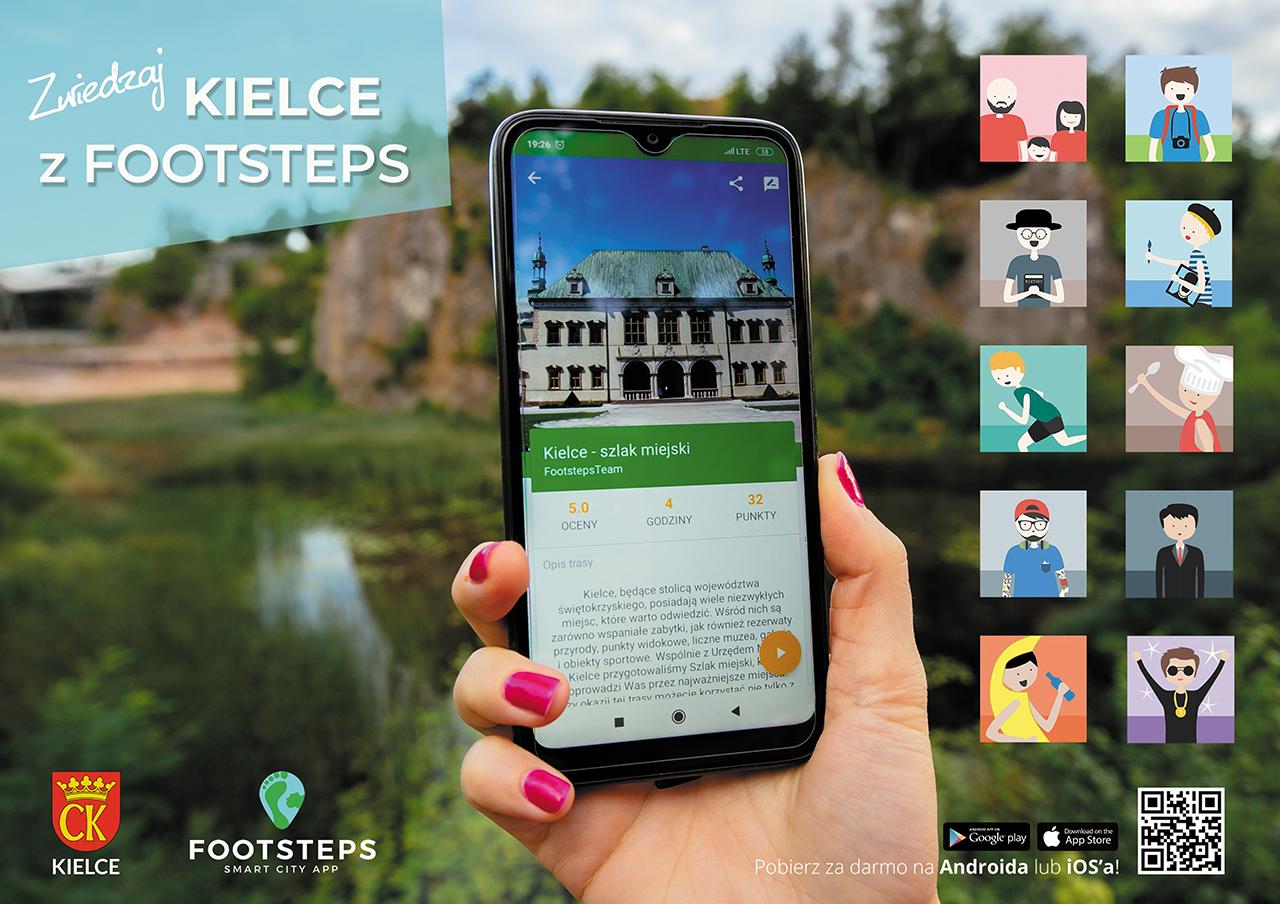 Kielce Aplikacja turystyczna Footsteps