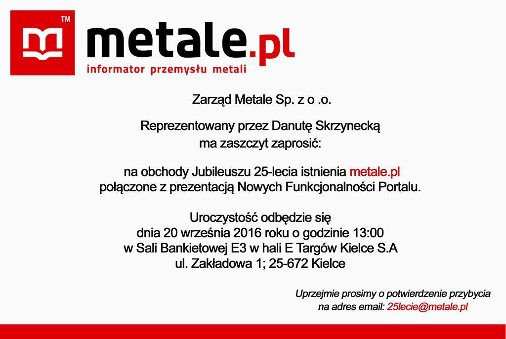 Jubileusz 25 Lecia Metalepl Targi Kielce Targi Kielce