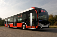 NEW TYPE OF CITY BUS  SOR NS ON SHOW TRANSEXPO IN TARGI KIELCE