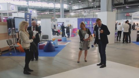 Interactive tables and floors proved to be smash-hits s of this year's Expo of Technologies & Equipment for Education held in Targi Kielce