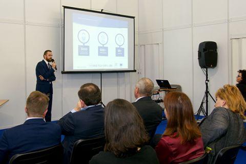 """Konfernecja """"Twój biznes w Europie"""" odbywała się podczas targów INNO-TECH EXPO w Targach Kielce"""
