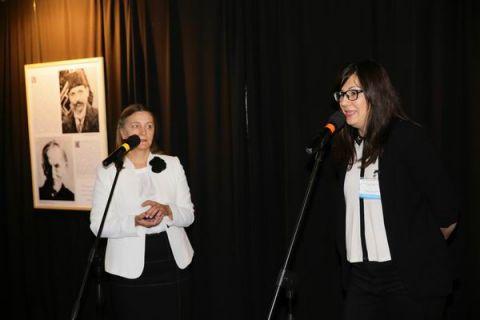 Renata Kutera-Zdravkovska oraz  Andriana Jelik z Muzeum Matki Teresy w Skopje podczas oficjalnego otwarcia wystawy w pierwszym dniu SACROEXPO