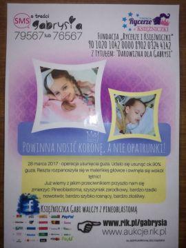 Serdecznie zachęcamy do włączenia się w pomoc dla małej księżniczki Gabrysi i jej rodziców