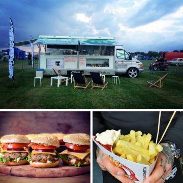 Foodtrucki które odwiedzą DUB IT Tuning Festiwal 2017 w Targach Kielce: od góry Moka café & food truck, Theburger oraz Najlepsze Frytki w Mieście