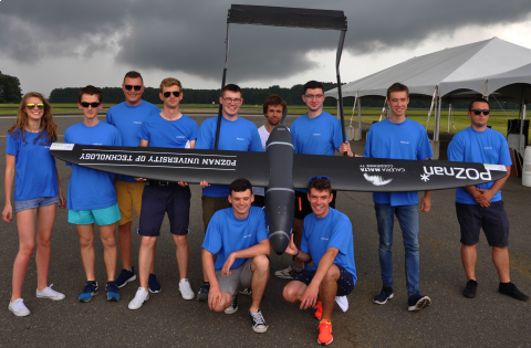 The UAV with team that has taken part in AUVSI SUAS 2017