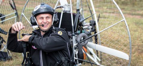 Marcin Bernat has worked as a paragliding instructor since 2008.  2017's event hosts Marcin Bernat as a special guest of Targi Kielce's Paragiełda.