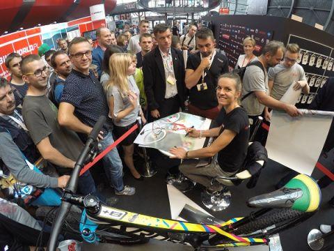 Spotkanie z Mają Włoszczowską podczas Kielce Bike-Expo 2016.