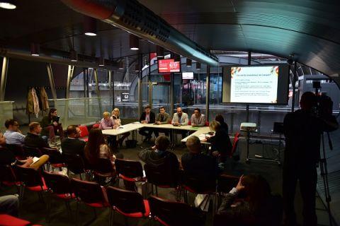 Konferencja prasowa z udziałem organizatorów i partnerów Lviv Bike-Expo.