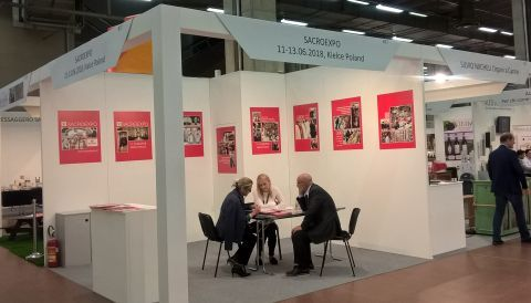 Sacroexpo's exhibition stand at the Italian Devotio expo