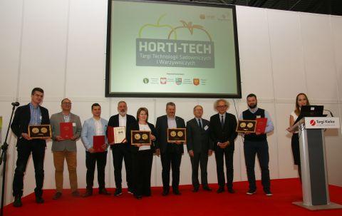 Wszyscy nagrodzeni podczas III Targów Technologii Sadowniczych i Warzywniczych HORTI-TECH.