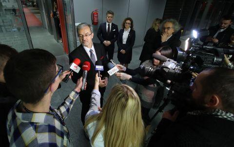Oprócz przedsiębiorców regionu świętorzyskiego i przedstawicieli samorządu na spotkanie z ministrem do Targów Kielce licznie przybyli dziennikarze.