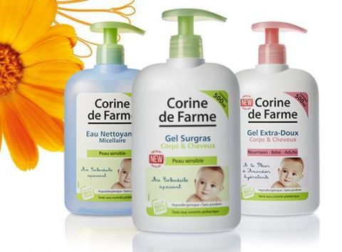 Marigold extract is one of the main ingredients of baby-care cosmetics offered by Corine de farme