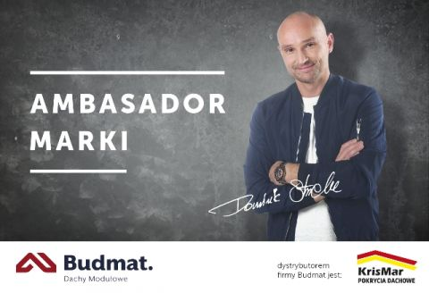 Gość specjalny Dominik Strzelec Ambasador Marki Budmat, prowadzący program Usterka