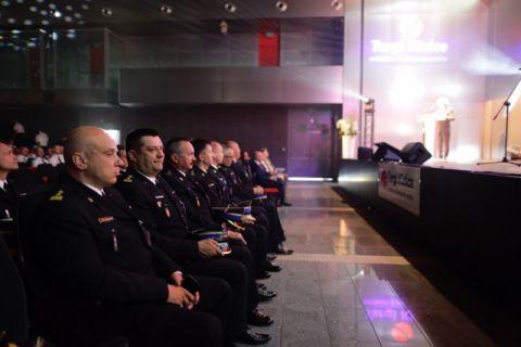 Przedstawiciele Komendy Głównej Państwowej Straży Pożarnej