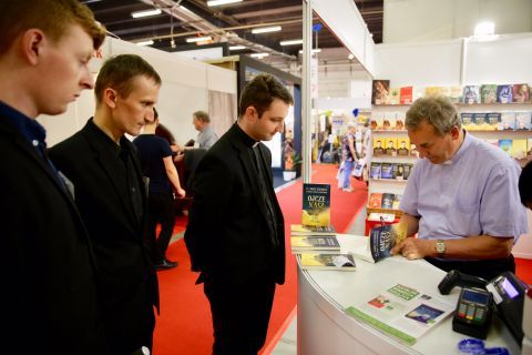 There was the meeting with Father  Marek Dziewiecki held in the Kielce exhibition and congress centre.  Wojciech Cejrowski, a popular traveler and Tomasz Terlikowski from the Republika TV were also present here