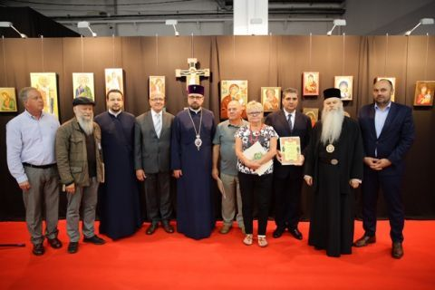 His Excellency Most Reverend Paisjusz, the Gorlice Bishop of the Polish Autocephalous Orthodox Church with the lauretes