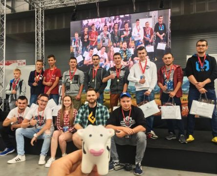 The winners of the Farming Simulator competition