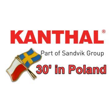 W trakcie targów METAL 2018 szwedzka firma KANTHAL świętuje 30 lat przedstawicielstwa w Polsce.
