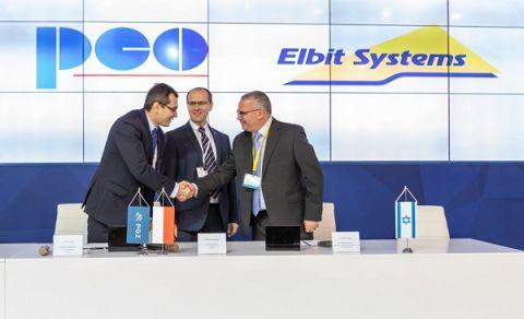 Przedstawiciele PCO S.A. oraz Elbit Systems Electro-Optics Elop Ltd. po podpisaniu porozumienia