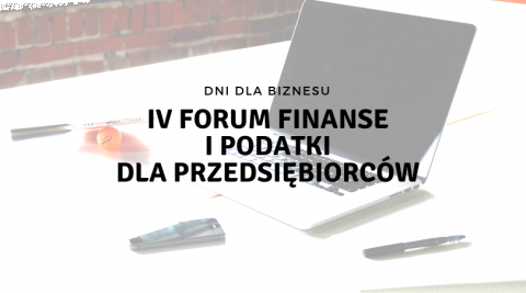 IV FINANCE AND TAX FORUM FOR ENTREPRENEURS - ONLINE REGISTRATION TILL 31 OCTOBER!