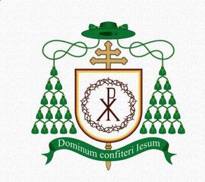 The bishop's coat of arms - Dominum confiteri Iesum