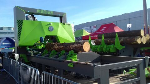 HTZ 1200 PLUS Frame Sawing Machine will be part of a modern production line  presented at Las-Expo in Targi Kielce
