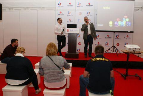 Wojciech Chuchla and Przemysław Wojtkowiak lecture was  targeted at toy stores owners
