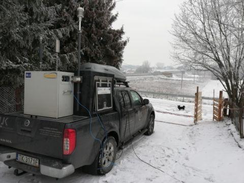 Ambulans pomiarowy podczas Kongresowi Ekologii Powietrza