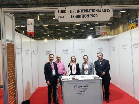Menadżerowie targów EURO-LIFT podczas wizyty na targach Asansor Istanbul w Stambule