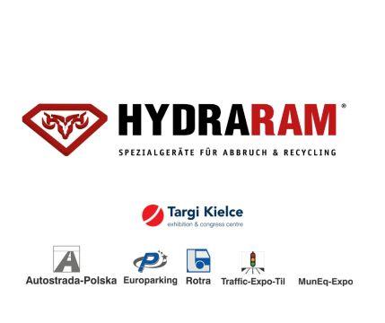 Stoisko firmy Hydraram zlokalizowane będzie na terenie zewnętrznym Targów Kielce.